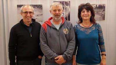 Erwin Signer (2. Rang), Sieger Urs Badertscher und Conny Brunschwiler (3. Rang). (Bild: PD)