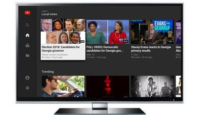 Lokalnews via YouTube-App für Fernseher. (Bild: PD/Google via AP)
