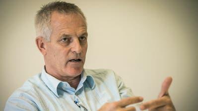 Markus Baiker erklärt im Gespräch, welche Pläne er mit den Kreuzlinger Schulen hat. (Bild: Reto Martin)