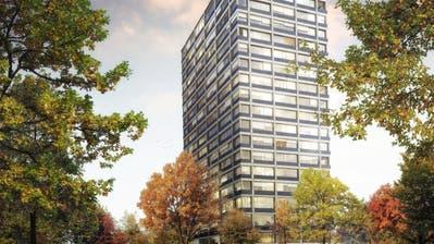Der Gestaltungsplan für das Hochhausprojekt «Terra Nova» wäre auflagereif. (Bild: Visualisierung HRS)