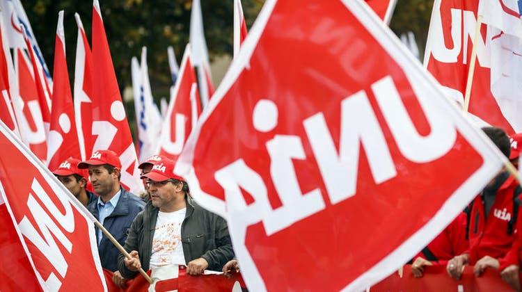 Kundgebung der Gewerkschaften am Dienstag in Zürich. (Bild: PD)