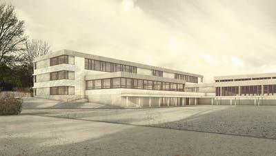 Eine Visualisierung des geplanten Schollenholz-Erweiterungsbaus. (Bild: PD)