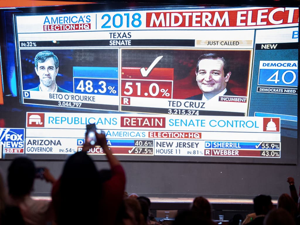Ted Cruz behält seinen Sitz im Senat. Er setzte sich gegen seinen demokratischen Herausforderer Beto O'Rourke durch. (Bild: Keystone/AP/JEFFREY MCWHORTER)