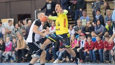 AndrijaPendicim Handball-Derby gegen Fortitudo Gossau. (Bild: Ralph Ribi)
