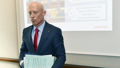 Patrik Gisel, Vorsitzender der Geschäftsleitung von Raiffeisen Schweiz, tritt per sofort zurück. (Bild: KEYSTONE/Walter Bieri)