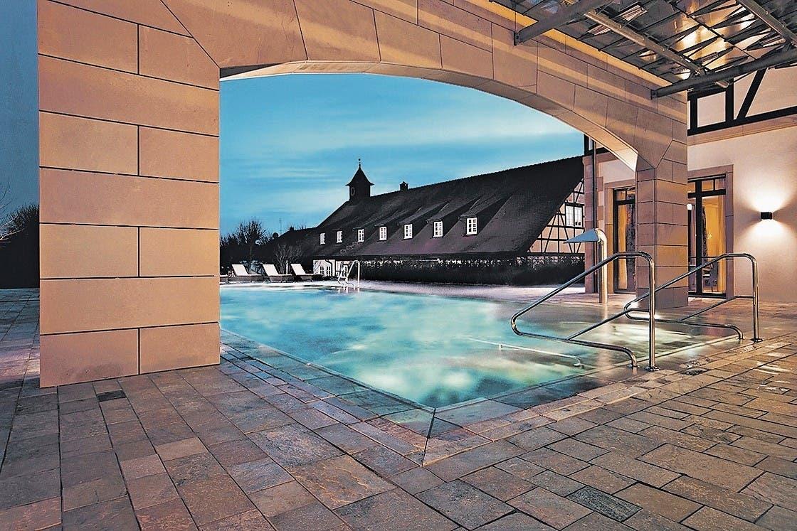 Der Wellnessbereich im Wald- und Schlosshotel Friedrichsruhe. (Bild: PD)