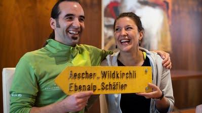Die Gastronomen Gallus Knechtle (34) und Melanie Gmünder (28) starten mit dem Aescher ein neues Kapitel. (Bild: Urs Bucher)