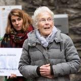 Anni Lanz, Menschenrechtsaktivistinbeim Bezirksgericht in Brig. (Bild: Keystone/Dominic Steinmann, 6. Dezember 2018)