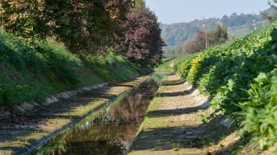 Der Giessen bei Bürglen führte auch Mitte Oktober sehr wenig Wasser. (Bild: Donato Caspari)