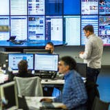 Der Newsroom am Standort Aarau. (Bild: Chris Iseli)