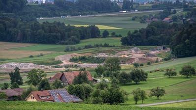 Die Deponie Hächlerenfeld soll um 10,6 Hektaren erweitert werden. (Bild: Pius Amrein, Buchs, 4. Juni 2018)