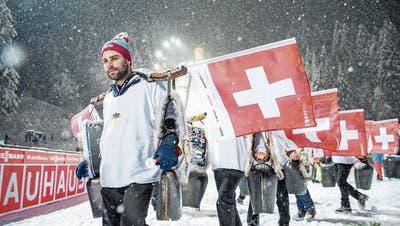 Skispringen in Engelberg: Der Glaube der Organisatoren an Magnet Simon Ammann
