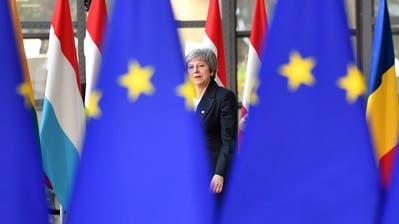 Die britische Premierministerin Theresa May am EU-Gipfel in Brüssel. (Bild: Geert Vanden Wijngaert/AP (13. Dezember 2018))