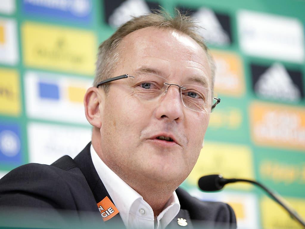 Sportchef Fredy Bickel schafft mit Rapid Wien den Einzug in die K.o.-Phase (Bild: KEYSTONE/APA/GEORG HOCHMUTH)