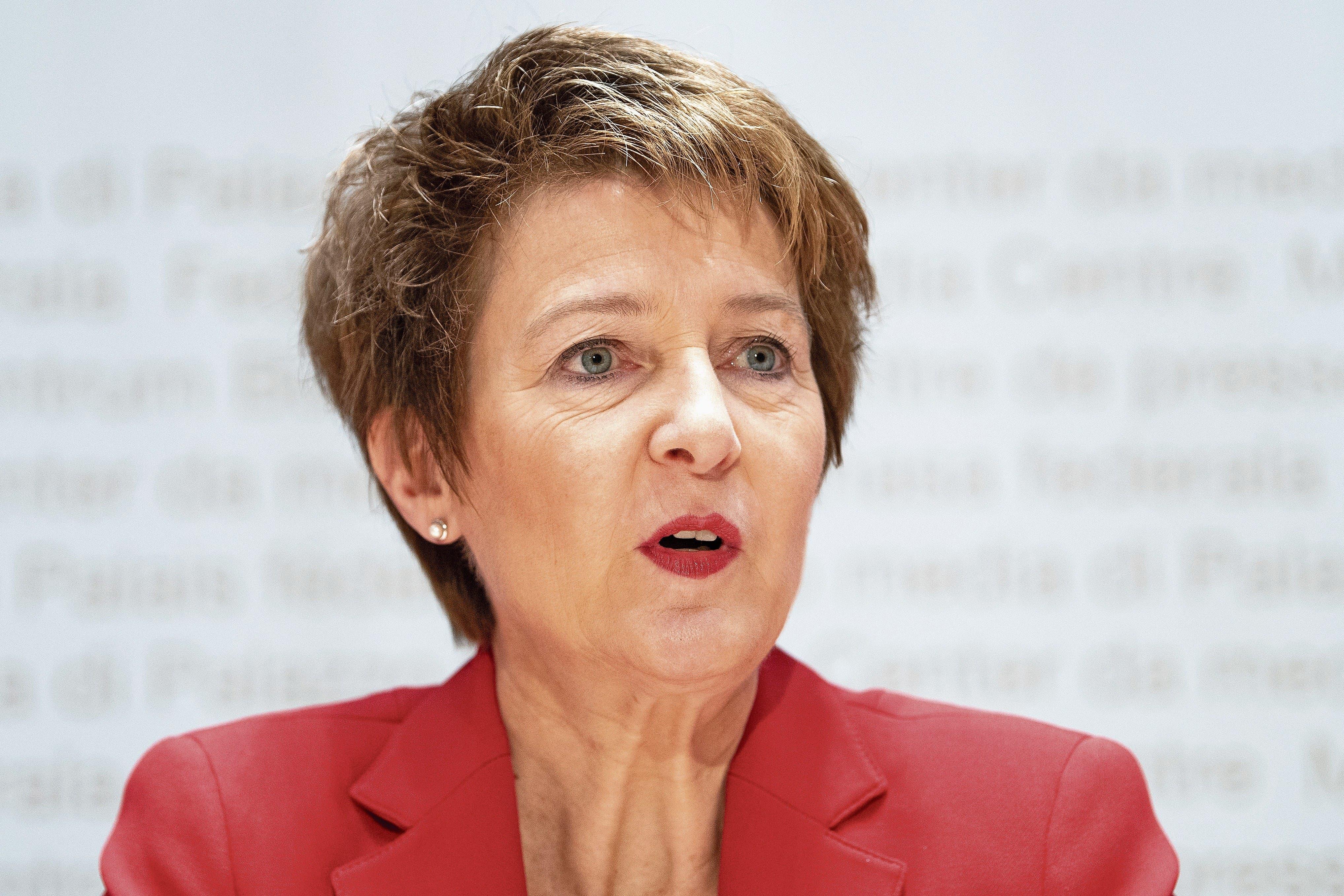 Bundesrätin Simonetta Sommaruga. (Bild: Peter Schneider/Keystone)