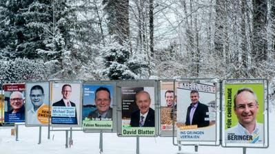 Wahlplakate in Kreuzlingen im Februar 2015. (Bild: Reto Martin)