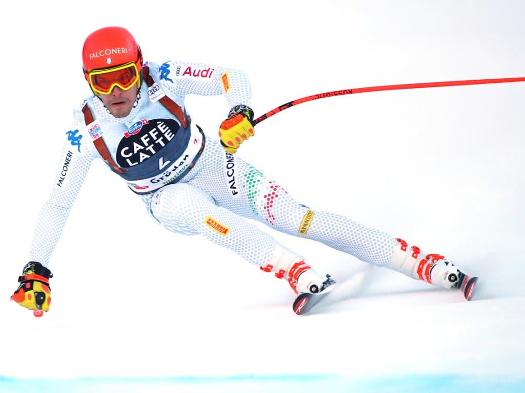 Christof Innerhofer verpasste seinen ersten Sieg in Val Gardena nur ganz knapp (Bild: KEYSTONE/AP/MARCO TROVATI)