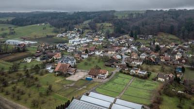 Die Gemeinde Altwis aus der Vogelperspektive. (Bild: Pius Amrein, 23. Dezember 2017)