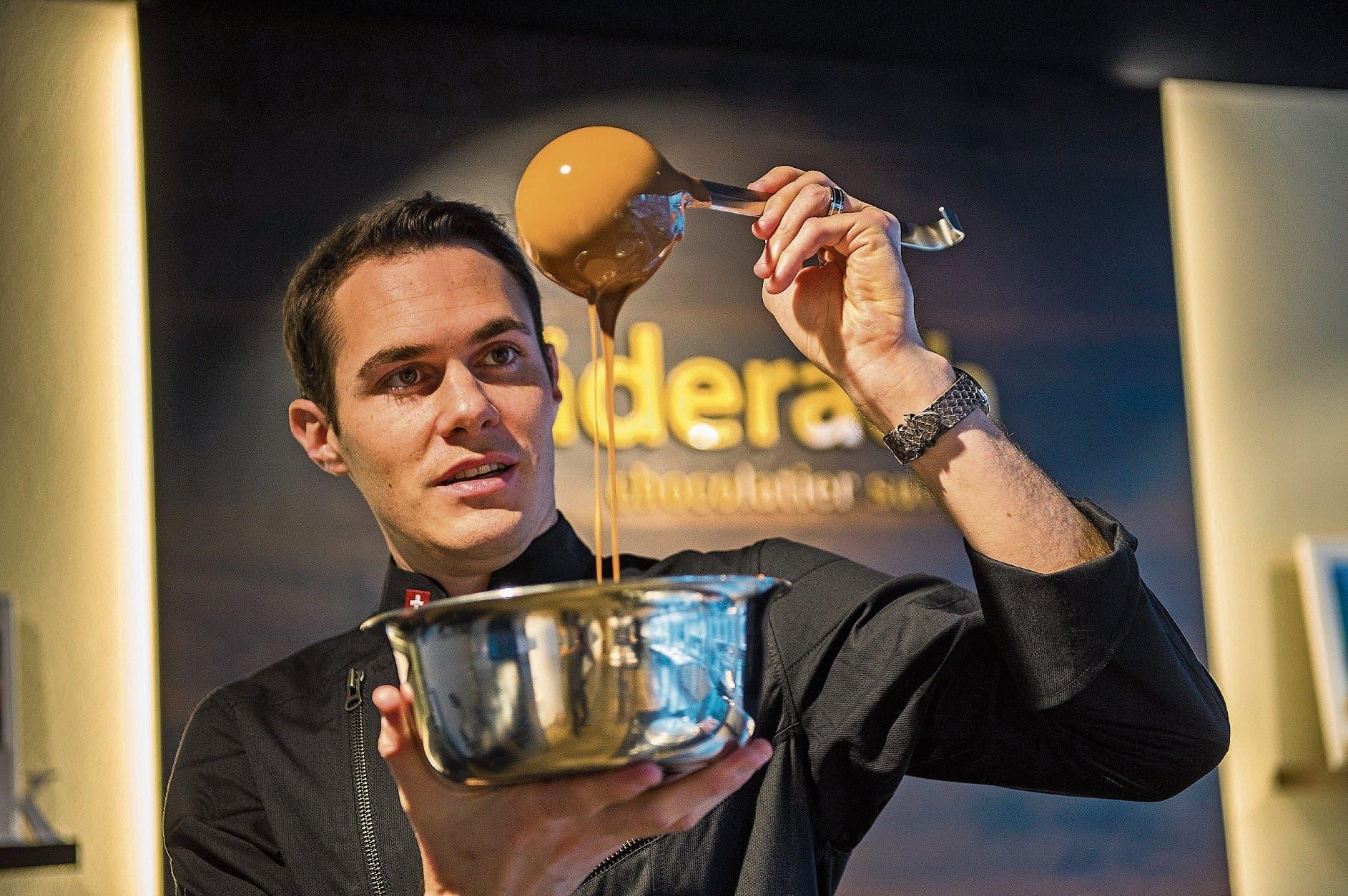 Ein Künstler in Sachen Schokolade: Elias Läderach.