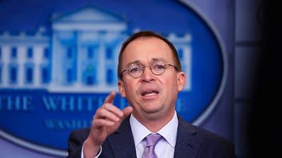 Trump besetzt Stabschef-Posten zunächst mit Budgetchef Mulvaney
