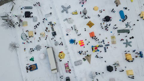 Härtetest bei 7 Grad Minus: Wie220 Studenten im Melchtaler Eis strandeten