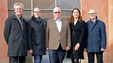 Der Verwaltungsrat der EWLAreal AG: (Von links) Adrian Borgula, Stephan Marty, Erich Rüegg, Tanja Temel, Martin Buob. (Bild: PD)