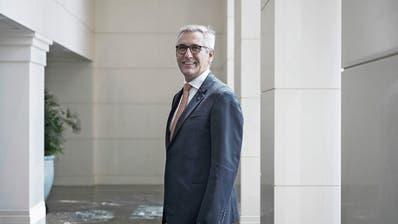 ABB-Konzernchef Ulrich Spiesshofer. (Bild: Qilai Shen/Bloomberg, Schanghai, 16. September 2017)