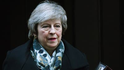 Die britische Premierministerin Theresa May. Bild: Andy Rain/EPA (London, 17. Dezember 2018)
