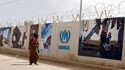 Aus UNHCR-Lagern wie diesem in Jordanien wird umgesiedelt. Bild: Keystone