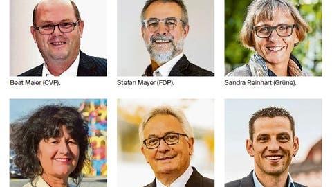 Diese neun Kandidatinnen und Kandidatenbewerben sich für die acht Sitze im Amriswiler Stadtrat. (Bilder: PD)