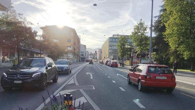 Die Luzernerstrasse im Zentrum von Kriens: Hier soll Tempo 30 gelten. (Bild: PD)