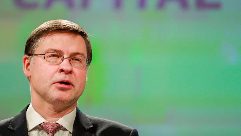 EU-Finanzkommissar Valdis Dombrovskis betonte, dass Italien das Vertrauen in seine Wirtschaft wiederherstellen müsse. (Bild: Stephanie Lecocq/EPA; 28. November 2018)