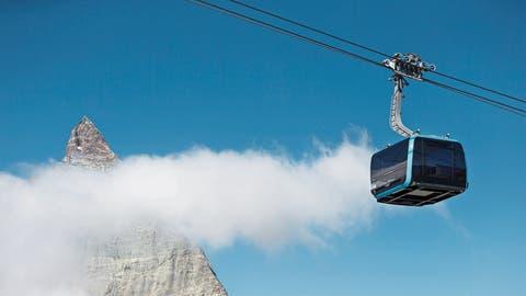 Eine von vielen Investitionen in Schweizer Wintersportorten: Die 60 Millionen Franken teure 3S-Seilbahn aufs Klein Matterhorn ist seit Herbst in Betrieb. (Bild: Dominic Steinmann/Keystone, Zermatt, 29. September 2018)
