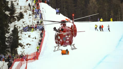Marc Gisin stürzte in der Abfahrt in Val Gardena schwer (Bild: KEYSTONE/EPA ANSA/ANDREA SOLERO)