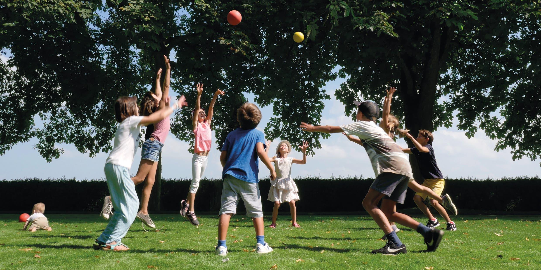 Simonetta Sommarugas spielende Kinder.
