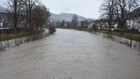 Nach starken Regenfällen: Thur tritt über die Ufer