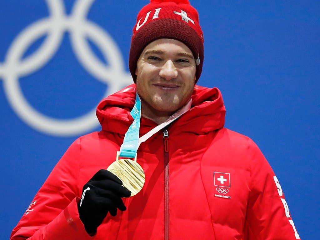 Der Langläufer Dario Cologna holte für die Schweiz eine der fünf Goldmedaillen an den Olympischen Winterspielen in Pyeongchang (Bild: KEYSTONE/EPA/JEON HEON-KYUN)