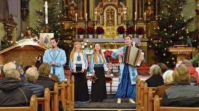 Das Beriska-Quartett aus Kiew in Tobel: Zwei Banduras und viele Kerzen