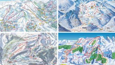 Erkennen Sie die Skigebiete der Region nur anhand des Pistenplans?