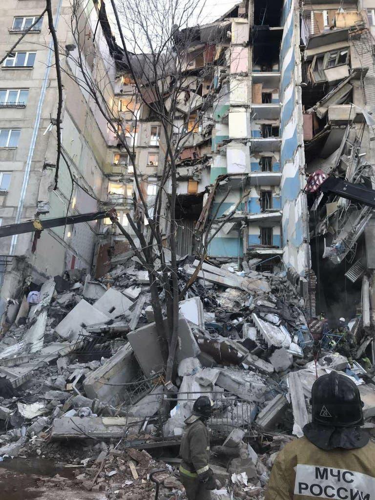 In dem eingestürzten Teil sollen 79 Personen gewohnt haben. (Bild: Keystone)