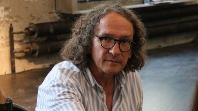 Künstler Josef Felix Müller diskutierte an beiden Foren zur Entwicklung eines neuen Stadtsanktgaller Kulturkonzeptes mit. (Bild: Reto Voneschen - 15. August 2018)