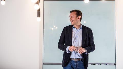Jonathan Green Chef von Juul Labs.Die amerikanische Firma lanciert in der Schweiz neue E Zigaretten, die in der USA sehr erfolgreich sind. (Bild: Nadia Schärli)