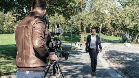 Der Luzerner Wirtschaftsförderer Ivan Buck wurde für den Dokumentarfilm in Luzern gefilmt. (Bild: PD, 26. September 2018)