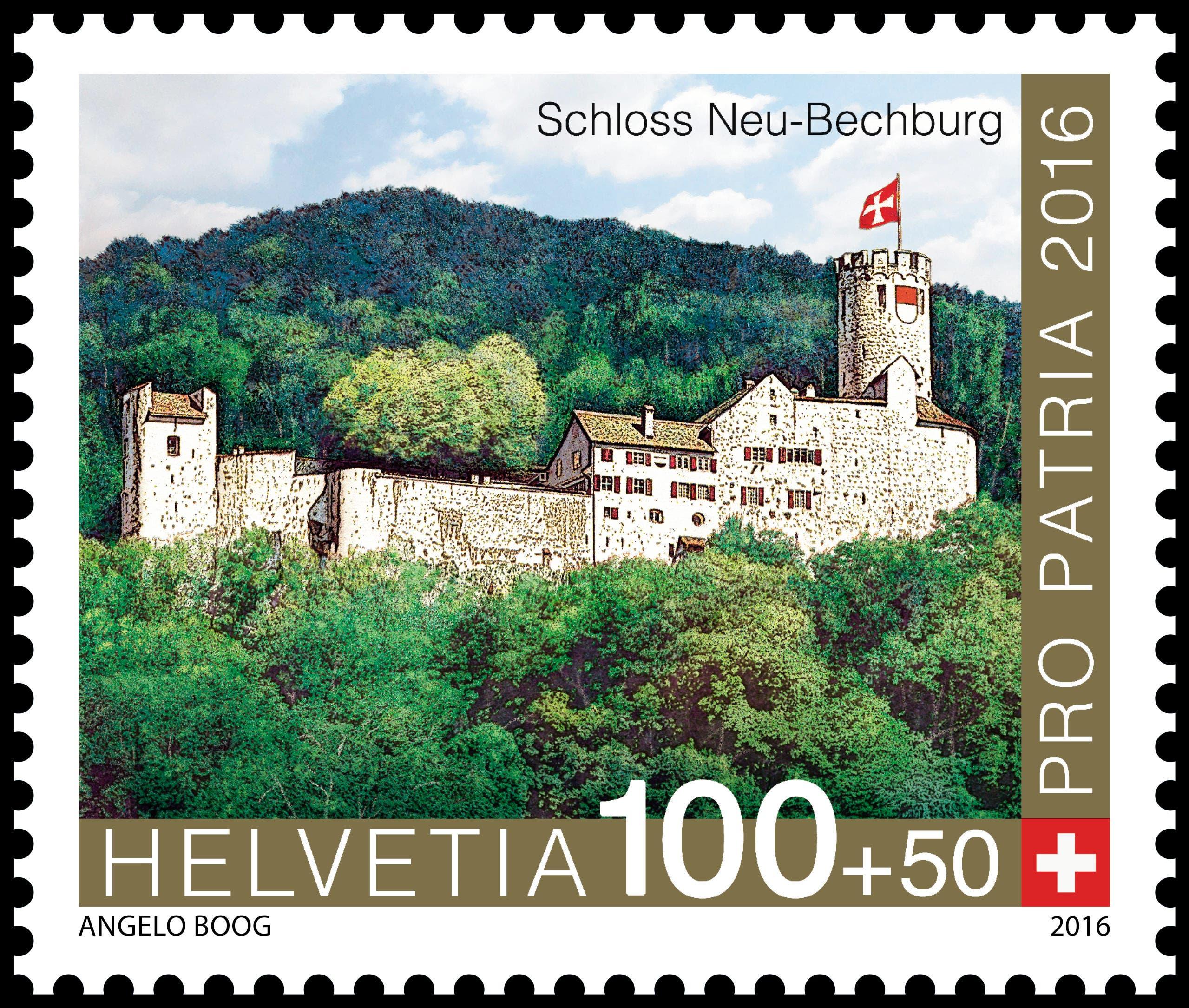 «Schloss Neu-Bechburg Oensingen» à CHF 1.00 + 0.50 (Bild: Die Post)