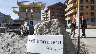 Bau des neuen Resorts in Andermatt