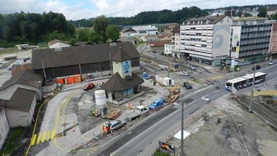 EMMENBRÜCKE: Tramhüsli am Centralplatz auf kleiner Reise