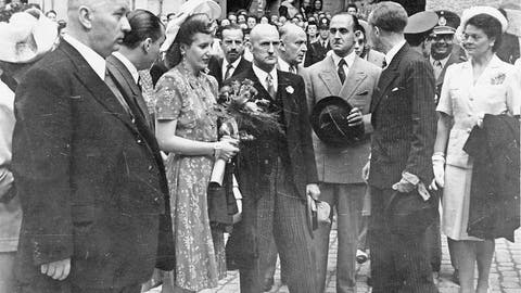 STAATSBESUCH: Botschafterin eines umstrittenen Ehemanns: Als «Evita» Luzern verzückte