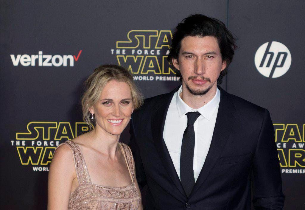 Schauspieler Adam Driver mit seiner Frau Joanne Tucker. Driver hat eine Rolle im Film. (Bild: EUGENE GARCIA (EPA))