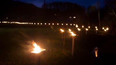 700-JAHRE-JUBILÄUM: Gelände-Lichtkette erinnert an Morgarten-Schlacht