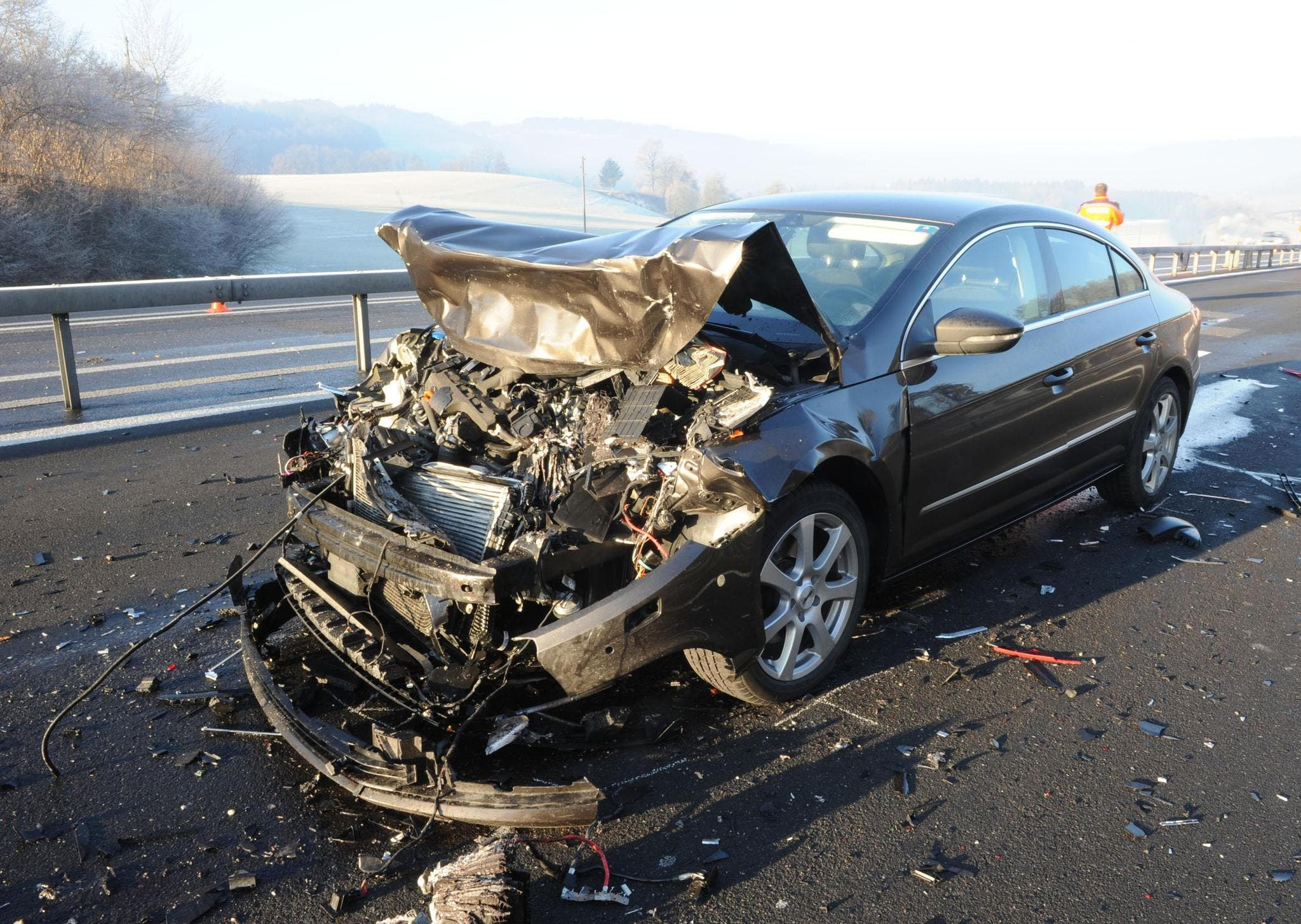 Es entstand ein Sachschaden von 170'000 Franken (Bild: Luzerner Polizei)
